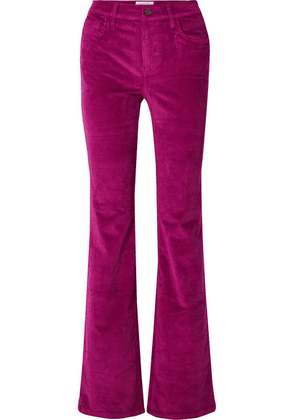 Current/Elliott - The Jarvis Stretch Cotton-blend Corduroy Flared Pants - Fuchsia