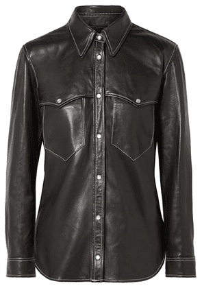 Isabel Marant - Nile Leather Shirt - Black