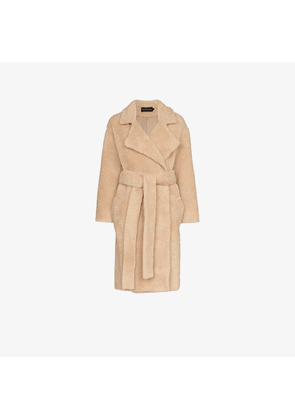 aed449d8bb1 Michael Lo Sordo | Crinkled-vinyl Trench Coat | Beige | MILANSTYLE.COM