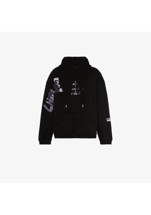 99% Is CSTM painted cotton hoodie