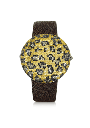 Christian Koban Designer Women's Watches, Clou Leopard Diamond Dinner Watch