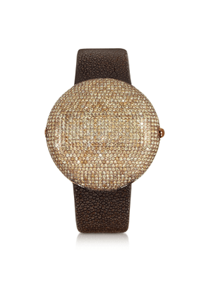 Christian Koban Designer Women's Watches, Clou Brown Diamond Dinner Watch