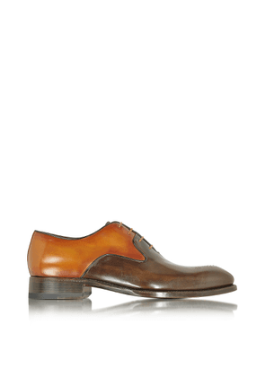 Forzieri Designer Shoes, Two-Tone Italian Handcrafted Leather Oxford Shoe