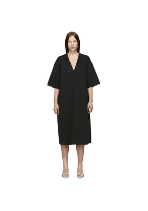 MM6 Maison Margiela Black V-Neck Dress