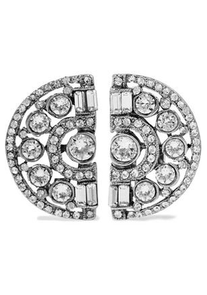 Ben-amun Woman Silver-plated Crystal Clip Earrings Silver Size -