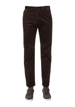 ami classic ribbed velvet trousers