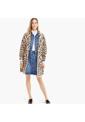 Double breasted sweater coat in leopard