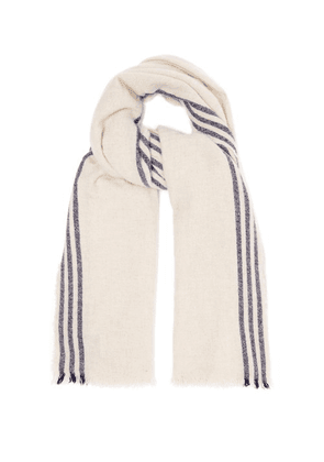 Begg & Co. - Beauford Washed Wool Blend Scarf - Mens - Beige