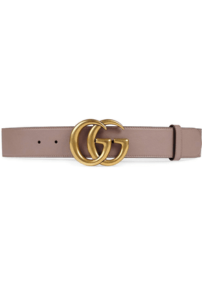 Gucci Leather belt with Double G buckle - Pink