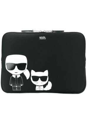 Karl Lagerfeld Ikonik laptop bag - Black