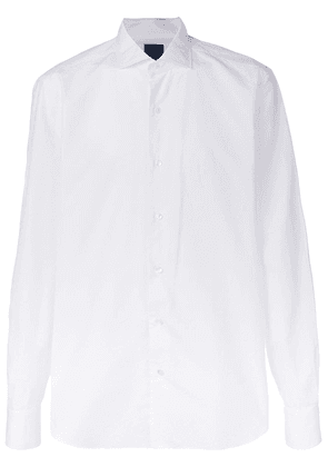 Barba embroidered details shirt - White