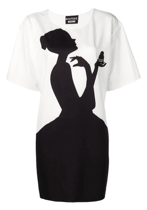 Boutique Moschino contrast print T-shirt - White