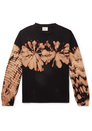 Aries - Printed Tie-dyed Cotton-jersey T-shirt - Black