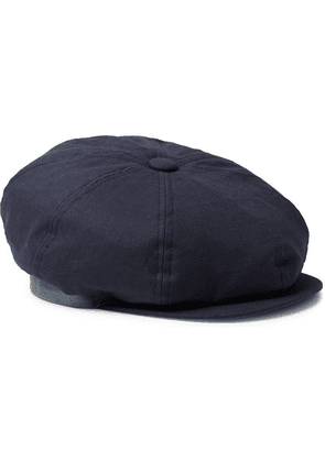 Paul Smith - Linen Flat Cap - Navy