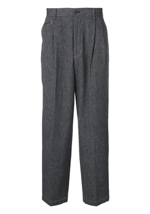 Issey Miyake Vintage micro pleats straight trousers - Blue