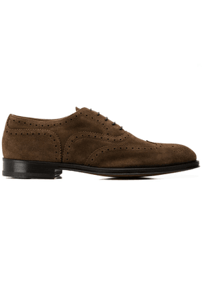 Doucal's textured lace-up shoes - Brown