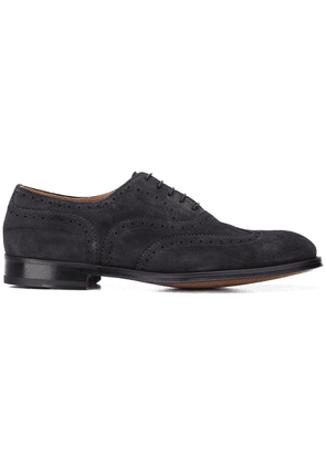Doucal's textured lace-up shoes - Blue