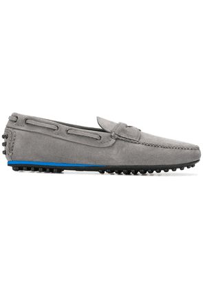 Car Shoe pebbled sole loafers - Grey