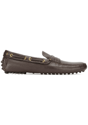 Car Shoe pebbled sole loafers - Brown