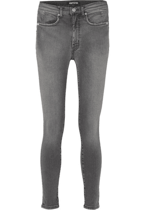 Adaptation - Mid-rise Skinny Jeans - Charcoal