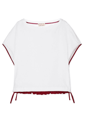 Marni - Drawstring Cotton-jersey T-shirt - White