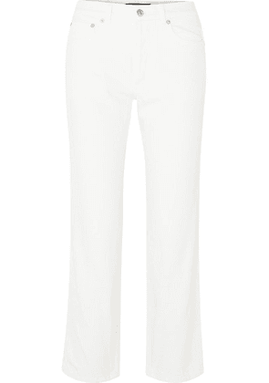 Adaptation - Slouch Cropped Mid-rise Straight-leg Jeans - White