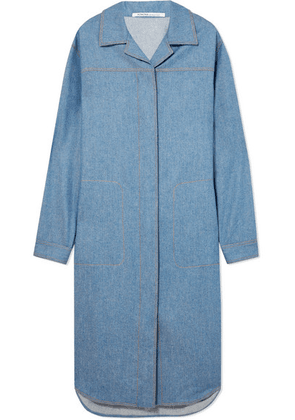 Agnona - Belted Wool And Cashmere-blend Midi Dress - Blue