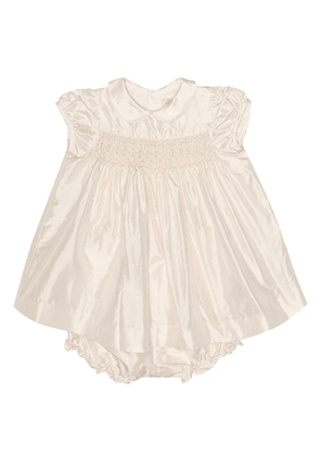 Précieuse silk dress and bloomer set