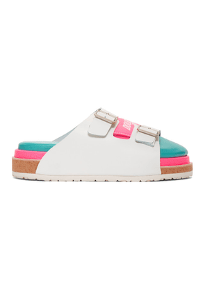 Doublet White & Pink Three-Layered Sandals