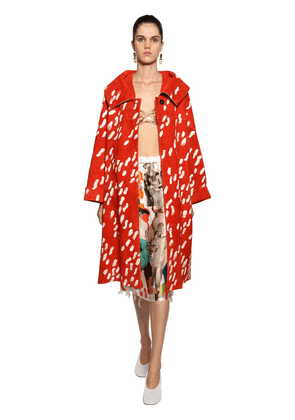 Duster Print Suede Coat