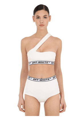 One Shoulder & High Waist Bikini Set