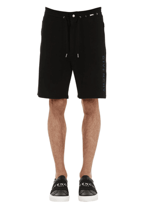 Logo Embroidered Cotton Shorts