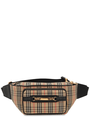 Checked Cotton Belt Bag