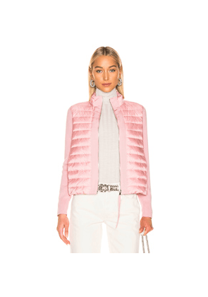 Moncler Maglia Tricot Cardigan Jacket in Pink