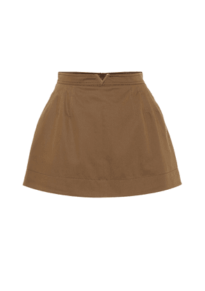 Stretch cotton twill miniskirt