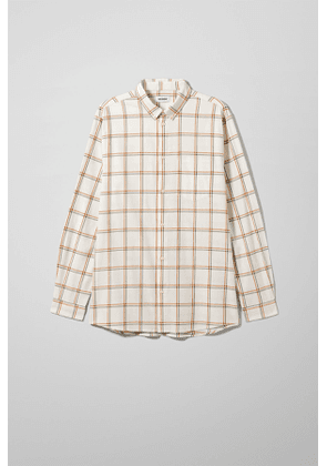 Ray Windowpane Shirt - White