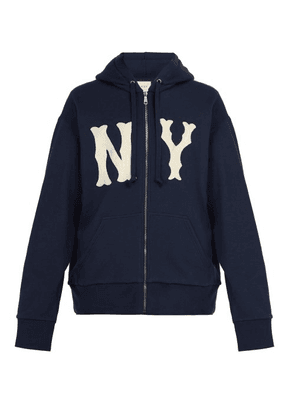 Gucci - Ny Yankees Appliqué Zipped Cotton Sweatshirt - Mens - Navy