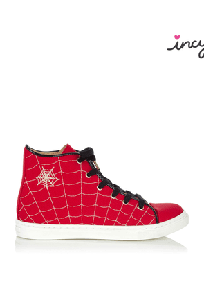 Charlotte Olympia Sale Women - INCY WEB HIGH TOPS RED Canvas 24