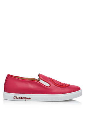 Charlotte Olympia Sneakers Women - PAXTON HOT PINK CALF LEATHER 36