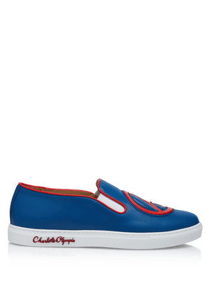 Charlotte Olympia Sneakers Women - PAXTON LAGOON & RED CALF LEATHER 36