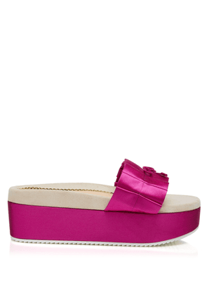 Charlotte Olympia Wedges Women - PIA LIGHT FUCHSIA SILK SATIN 36,5