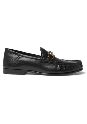 Gucci - Easy Roos Horsebit Collapsible-heel Leather Loafers - Black