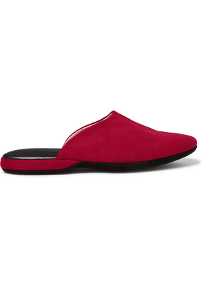 Charvet - Suede Slippers - Red