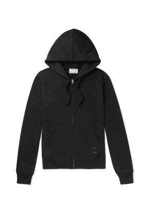Acne Studios - Frake Slim-fit Loopback Cotton-jersey Zip-up Hoodie - Black