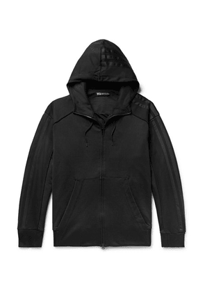Y-3 - Embroidered Printed Cotton-jersey Zip-up Hoodie - Black