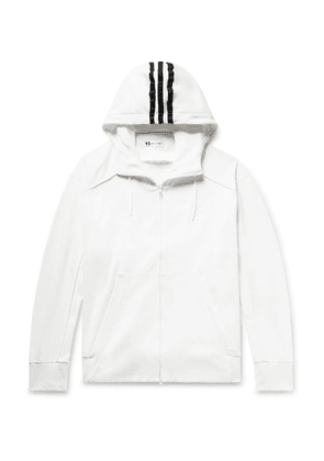 Y-3 - Logo-print Loopback Cotton-jersey Zip-up Hoodie - White