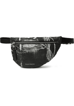 Alexander McQueen - Printed Nylon Belt Bag - Black