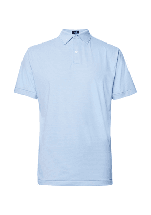 Dunhill Links - Striped Tech-jersey Golf Polo Shirt - Light blue