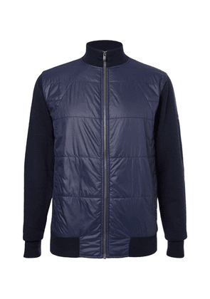 Dunhill Links - Newmill Quilted Shell And Wool Zip-up Golf Jacket - Navy