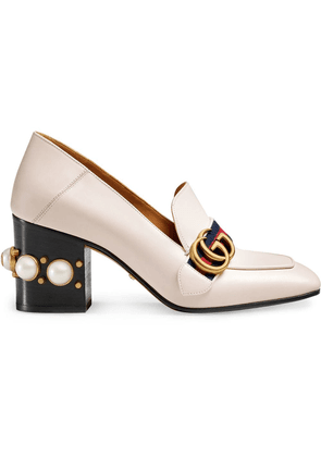 Gucci Leather mid-heel loafer - Neutrals